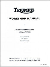 TRIUMPH 650 UNIT TWIN FACTORY SHOP MANUAL T120 TR6 6T 1963-1970 PN# 99-0883/0889