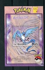 Gambia 2001 MNH Pokemon #144 Articuno 1v S/S GAME FREAK Nintendo Stamps