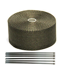"Titanium Exhaust/Header Heat Wrap, 2"" x 33' Roll With Stainless Ties Kit 2015"