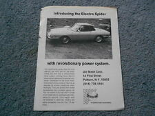1972 1973 FIAT 850 ELECTRA SPIDER DEALER SALES 1-PAGE FLYER BROCHURE DIE MESH