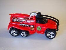 HOT WHEELS XS-IVE RED FIRE RESCUE TRUCK FIELD & FOREST 1:64