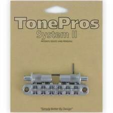 NEW TonePros T3BT-C Nashville Tunematic Bridge (Metric Thread) Tone Pros CHROME