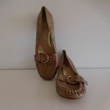 Chaussures PONS QUINTANA cuir made in Spain vintage art nouveau