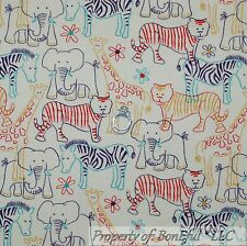 BonEful Fabric FQ Cotton Flannel Animal Jungle Zebra African Giraffe Elephant Sm