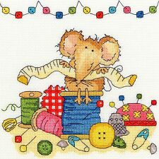 BOTHY THREADS SEWING MOUSE COUNTED CROSS STITCH KIT XSW9