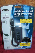 Belkin Notebook Travel Surge Protector Telephone Phone Modem Small 110V 240V