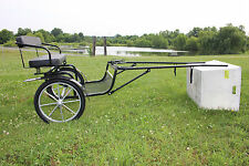 New Frontier Equestrian mini horse drawn easy entry cart - WIDE BODY