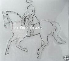 Hotfix Strass Bügelbild Glas Pferd Applikation Dressurreiten 110907 Karostonebox