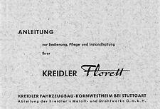 Kreidler Florett K 54 3 Gang Handschaltung Bedienung Pflege Anleitung