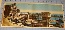1946 Original Panoramic Large Colored Photograph ALGER ALGERIA 22 by 9.5 Inches