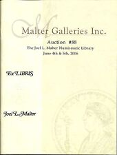 The Important Joel L. Malter Numismatic Library Auction Catalog