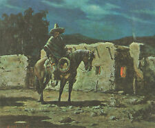"""OLAF WIEGHORST Southwestern Book Print """"CABALLERO"""" From Oil Painting"""