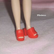 "12"" Neo Blythe Pullip Doll Fashion Wear Open End High Heel Shoes Red"