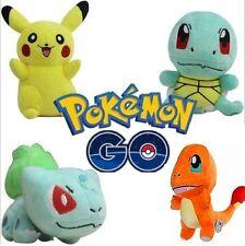 4PCS Pokemon Go Plush Toys Pikachu Squirtle Bulbasaur Charmander Action Toy Set#