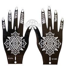 Henna Tattoo Paste Schablone Airbrush Körperkunst Linke Rechte Hand Set S 103
