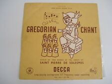 "Gregorian Chants VOL. 1 NO. 5 Dom Joseph Gajard- 12"" LP"