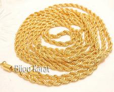 2 Meter Gold Kette 24 Ayar Altin Kaplama 2 iki Metre Kolye 24 Karat vergoldet