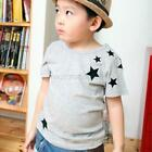 2-7Y Baby Kids Boy Cotton Shirt Star Pattern Short Sleeve T-shirt Children Tops
