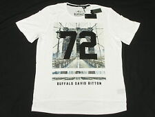$45 NWT NEW Mens Buffalo David Bitton T-Shirt NACOTA Graphic Tee White Sz S N032