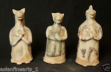 Jin Dynasty Old Chinese Antique Pottery Animal Monster Figure Set Statue #667