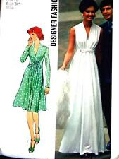 FAB VTG 70s LOVELY EVENING GODDESS GOWN & DRESS Misses Sewing Pattern 6672 12