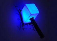 MARVEL Avengers Assemble THOR HAMMER ~ MJOLNIR 3D Deco Room Wall Night Light FX