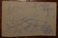 PRETTY THINGS ~ HAND SIGNED AUTOGRAPHED AUTOGRAPH BOOK PAGE ~ NICE 1960s EXAMPLE