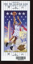 2001 NBA Basketball All Star Game Full Ticket NRMT
