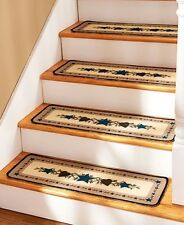 Set Of 4 Country Star & Heart Stair Treads Nonslip Rustic Carpet Treads Home
