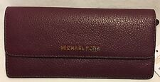 MICHAEL Michael Kors PLUM Bedford Flat Wallet Leather 32F6GBFE1L $128