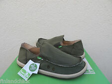 SANUK VAGABOND OLIVE GREEN SIDEWALK SURFER SHOES,  MENS US 12/ EUR 45 ~NEW