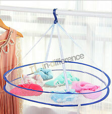 Drying Basket Rack Folding Hanging Clothes Laundry Dryer Net Underware Shirt
