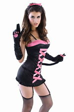 Sexy Dark Midnight Kitty Fancy Dress Costume Outfit