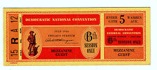 July 1944 Democratic National Convention Ticket 15 R A 12 6th Session Original