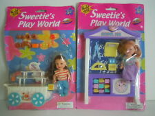 """VINTAGE KELLY DOLL CLONE """" SWEETIE'S PLAY WORLD """" CANDY, BAKERY SHOP+ SCHOOL FUN"""