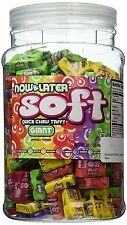 Now and Later Giant Soft Chewy Taffy Candy Assortment Tub (Pack of 120), New
