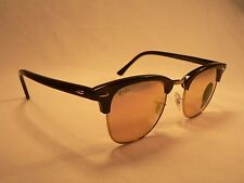 Ray-Ban Clubmaster Sunglasses RB3016 Black Gold Trim / Pink