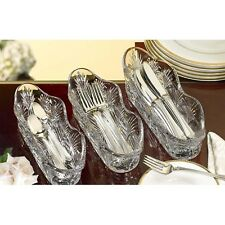Crystal Flatware Caddy Set of 3 Party Utensil Holder Buffet Kitchen Cooking