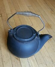 Black Cast Iron Kettle Humidifier Vintage Wood Stove Pot Steamer