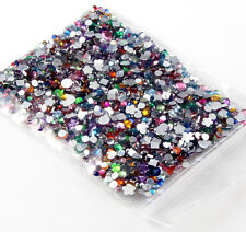 1.5/2.0mm 2000pcs Mixed Shape Rhinestones Acrylic Nail Art Decoration Flat back