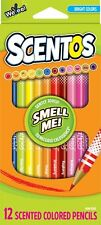 Scentos Scented Colored Pencils (40515) 12 colors and scents Smooth finish BTP