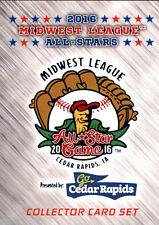 2016 Midwest League All-Star Game 70 Card Baseball Team Set Sealed NEW MWL RARE