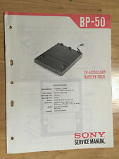 Original Sony Service Manual for the BP-50 TV Battery Pack