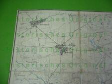611KJ1 Alte Landkarte, Karte MOCKREHNA; Authausen, Pressel, Wöllnau, Wildenhain