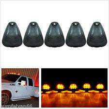 5 X 12-24V Black Smoke Lens Amber LED Light Car Truck Top Cab Roof Marker Lamps