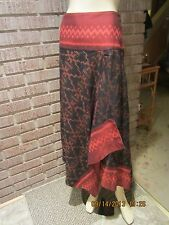 Women's NWT Ethnic Thai Village Weaver Cotton Tribal Fringe Caftan Top/Skirt M/L