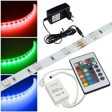 (19,96€) 2,5 Meter RGB Led Komplett-SET IP44/ SMD Streifen Stripe Strip flexibel