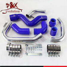 Blue Intercooler Piping pipe Kit for 2002-2006 Audi A4 1.8T Turbo B6 Quattro