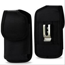 "Black Nylon Pouch Belt Clip For IPhone 6S Plus 5.5"" w/ External Battery Case On"