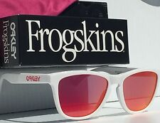 NEW* Oakley Frogskins WHITE Frame Ruby Iridium Sunglass 24-307